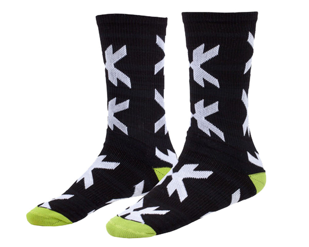 HK Army Optic Speed Socks - Black/Neon Green