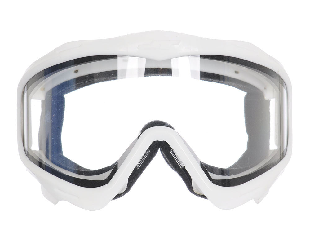 JT Goggle Mask Frame w/ Clear Lens - White