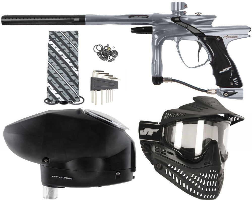 JT Impulse Paintball Gun w/ Free JT Proflex Mask & Evlution Loader - Charcoal/Black