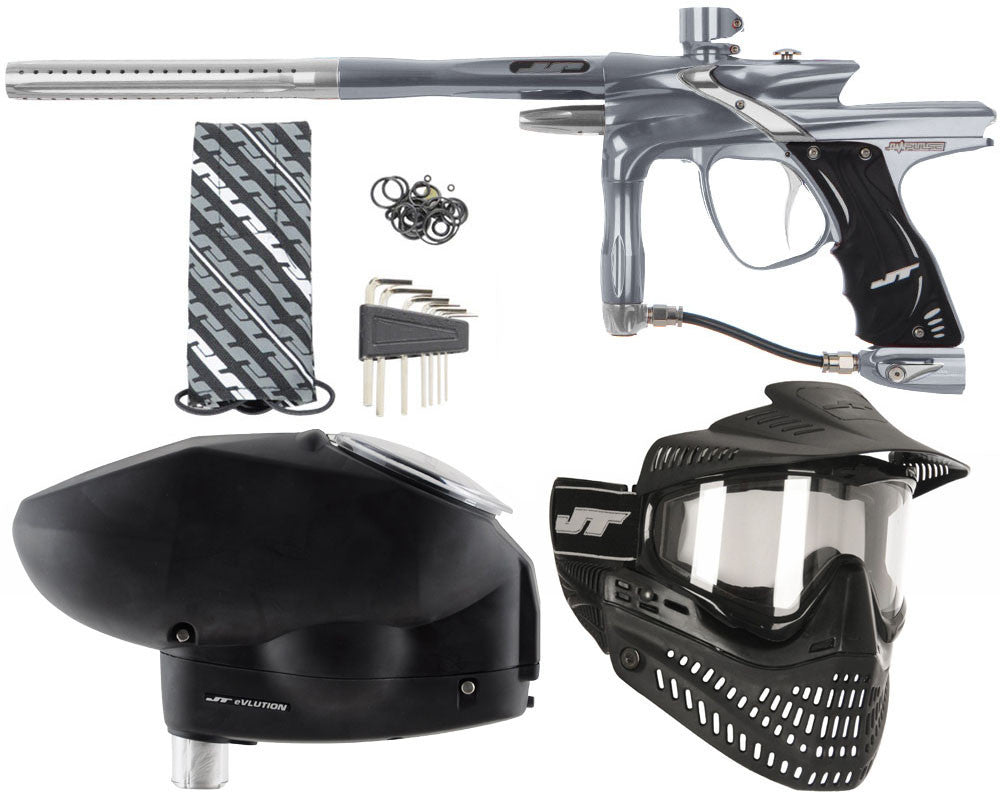 JT Impulse Paintball Gun w/ Free JT Proflex Mask & Evlution Loader - Charcoal/Grey