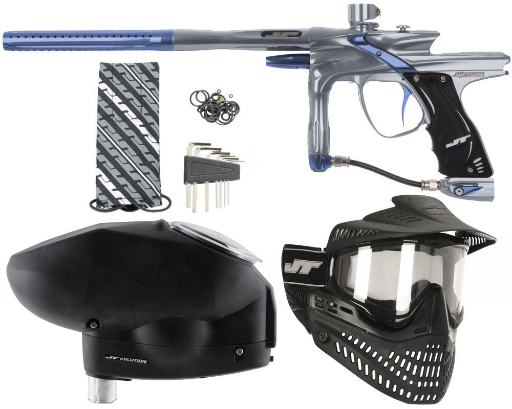JT Impulse Paintball Gun w/ Free JT Proflex Mask & Evlution Loader - Charcoal/Gun Metal