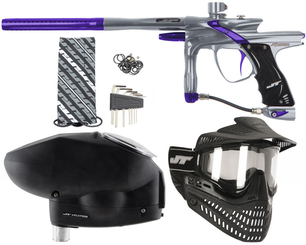 JT Impulse Paintball Gun w/ Free JT Proflex Mask & Evlution Loader - Charcoal/Purple