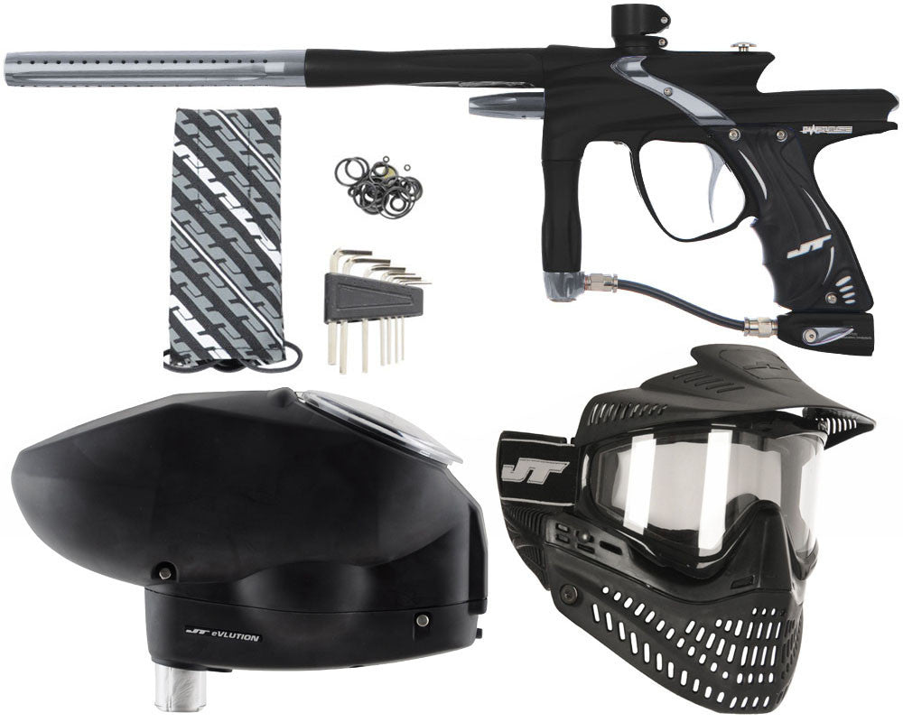 JT Impulse Paintball Gun w/ Free JT Proflex Mask & Evlution Loader - Dust Black/Grey