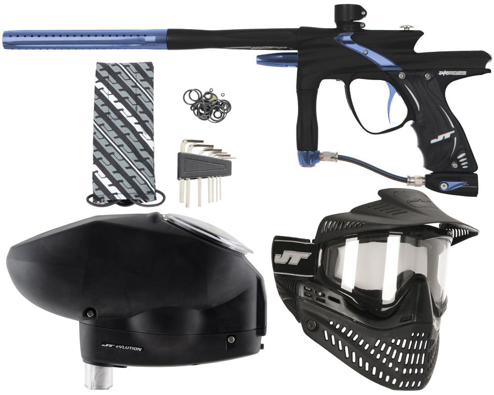 JT Impulse Paintball Gun w/ Free JT Proflex Mask & Evlution Loader - Dust Black/Gun Metal