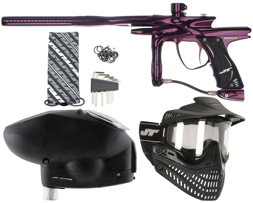 JT Impulse Paintball Gun w/ Free JT Proflex Mask & Evlution Loader - Eggplant/Eggplant