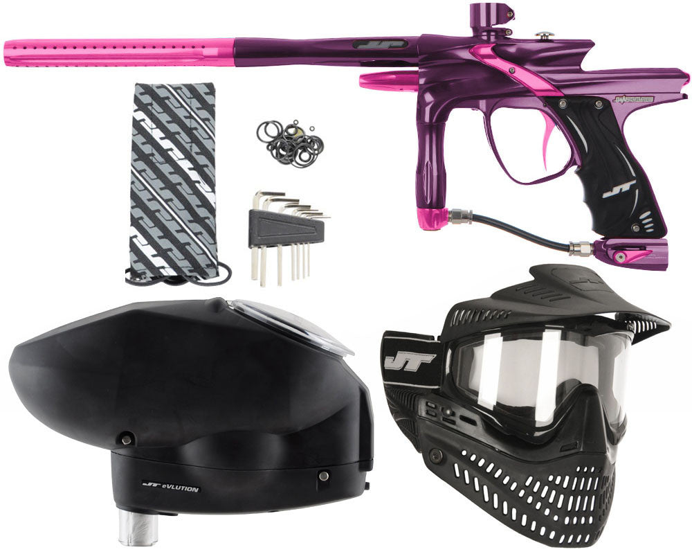 JT Impulse Paintball Gun w/ Free JT Proflex Mask & Evlution Loader - Eggplant/Pink