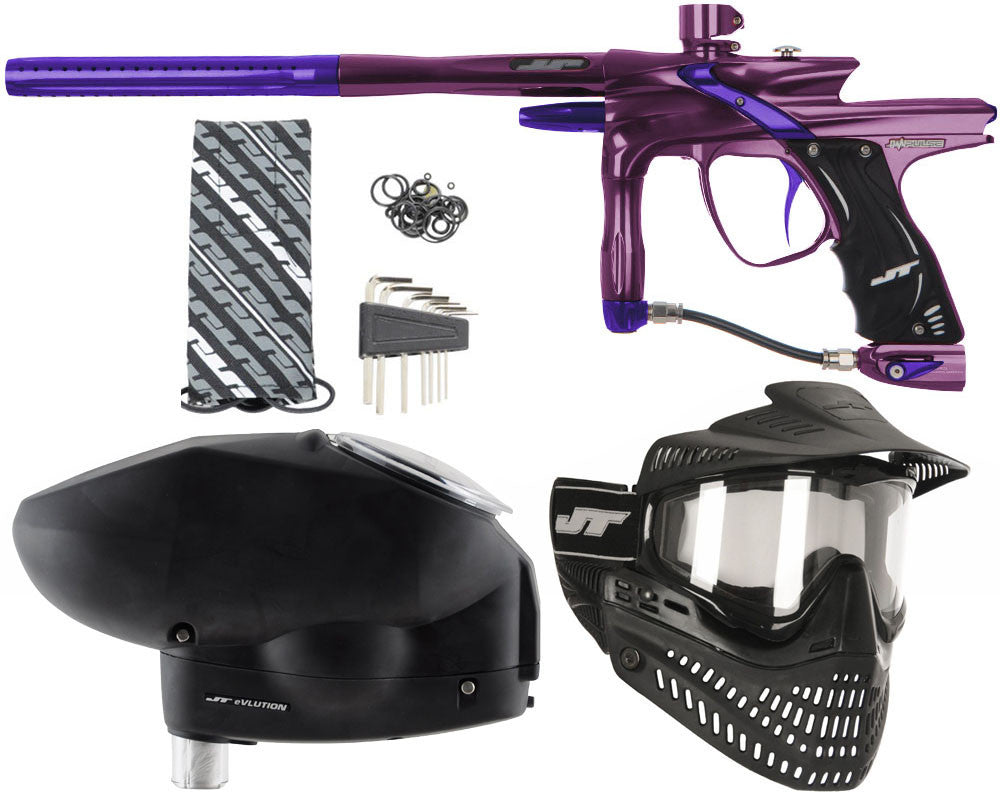 JT Impulse Paintball Gun w/ Free JT Proflex Mask & Evlution Loader - Eggplant/Purple