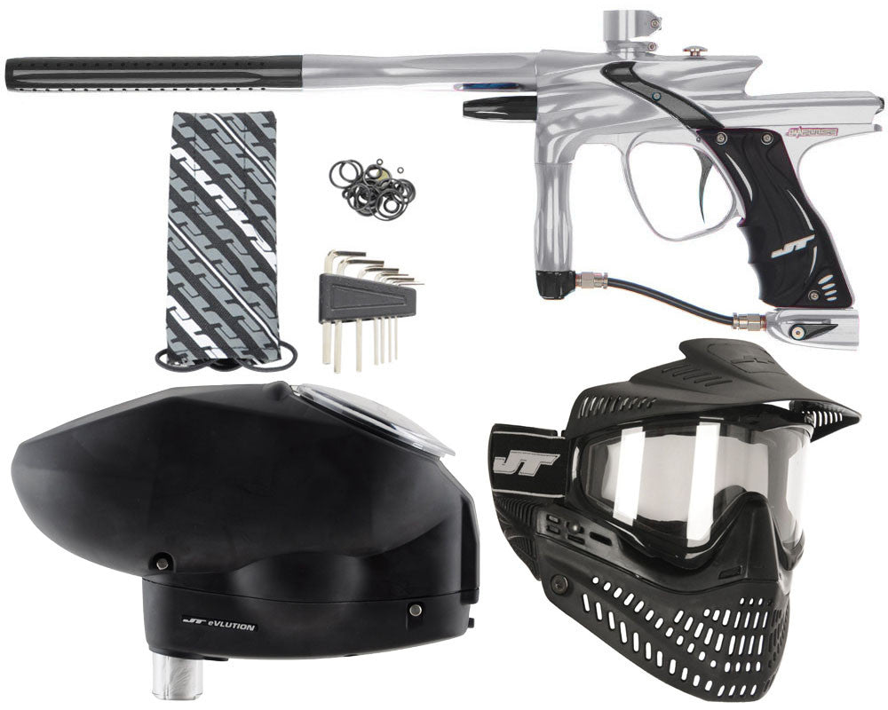 JT Impulse Paintball Gun w/ Free JT Proflex Mask & Evlution Loader - Grey/Black