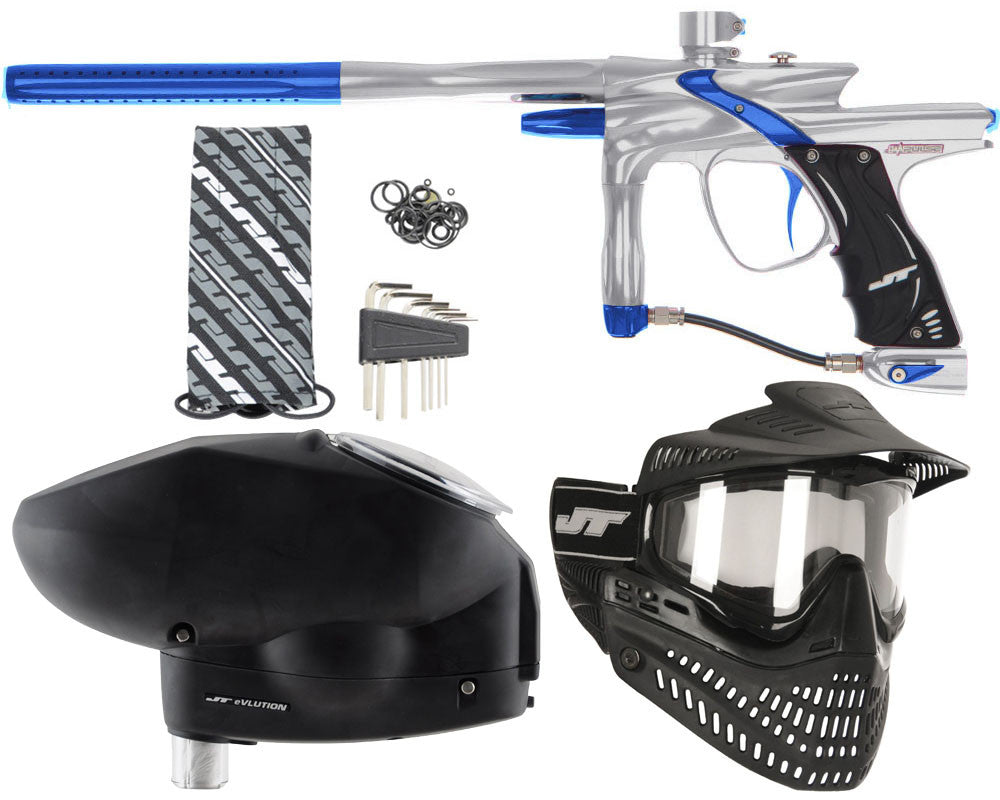 JT Impulse Paintball Gun w/ Free JT Proflex Mask & Evlution Loader - Grey/Blue