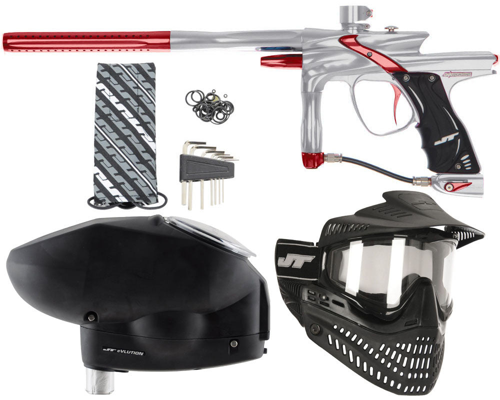 JT Impulse Paintball Gun w/ Free JT Proflex Mask & Evlution Loader - Grey/Red