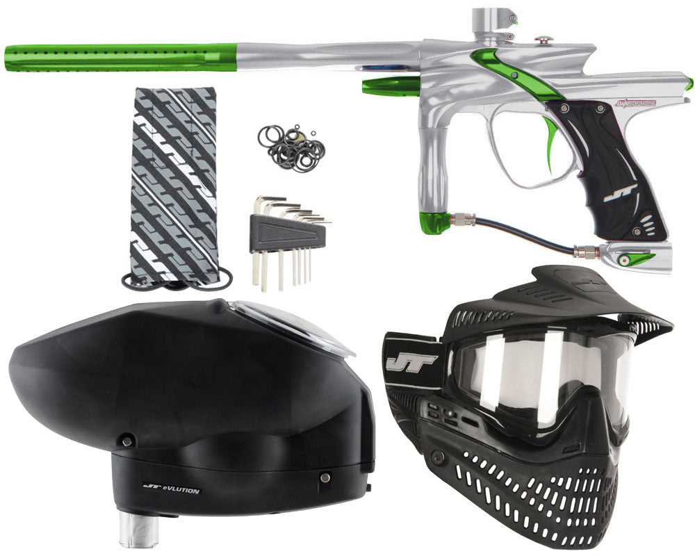 JT Impulse Paintball Gun w/ Free JT Proflex Mask & Evlution Loader - Grey/Slime