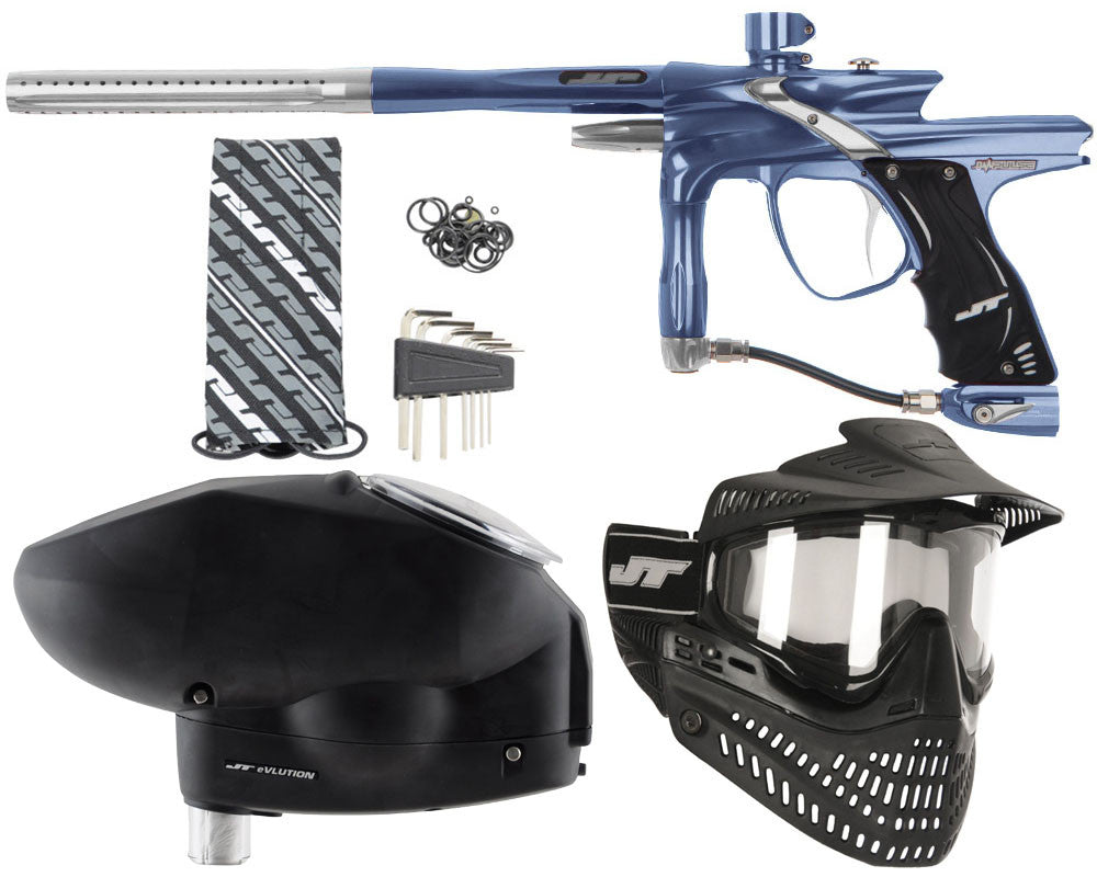 JT Impulse Paintball Gun w/ Free JT Proflex Mask & Evlution Loader - Gun Metal/Grey