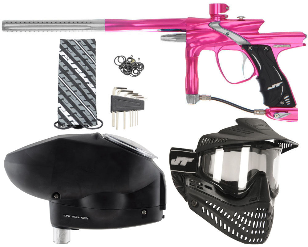 JT Impulse Paintball Gun w/ Free JT Proflex Mask & Evlution Loader - Pink/Grey