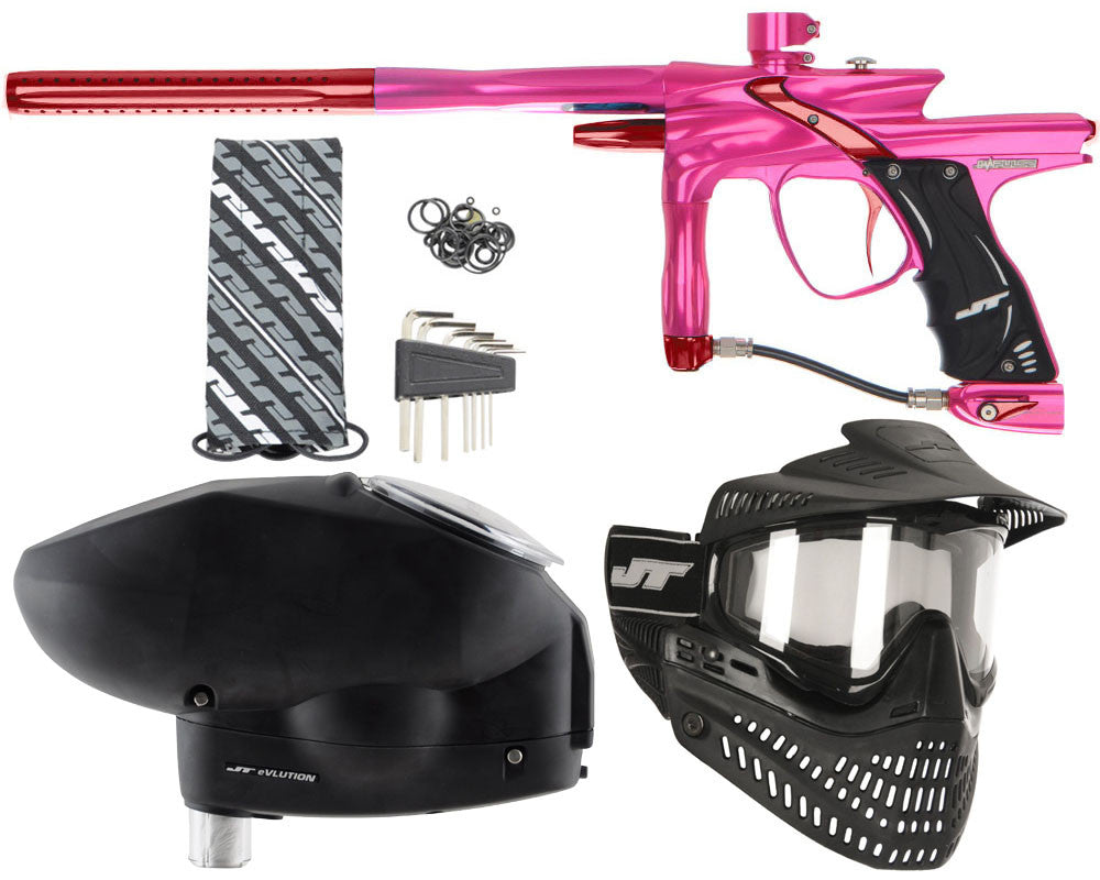 JT Impulse Paintball Gun w/ Free JT Proflex Mask & Evlution Loader - Pink/Red