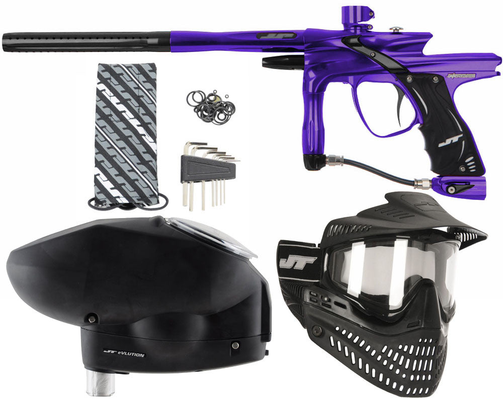 JT Impulse Paintball Gun w/ Free JT Proflex Mask & Evlution Loader - Purple/Black