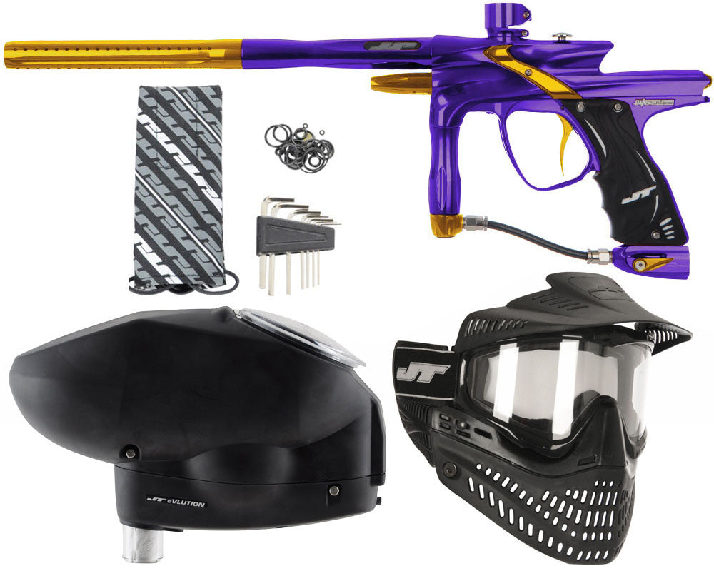 JT Impulse Paintball Gun w/ Free JT Proflex Mask & Evlution Loader - Purple/Gold