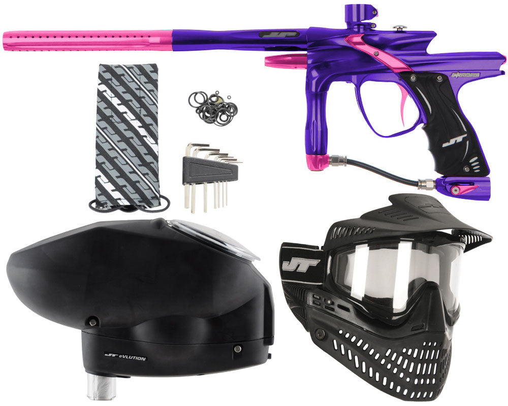 JT Impulse Paintball Gun w/ Free JT Proflex Mask & Evlution Loader - Purple/Pink
