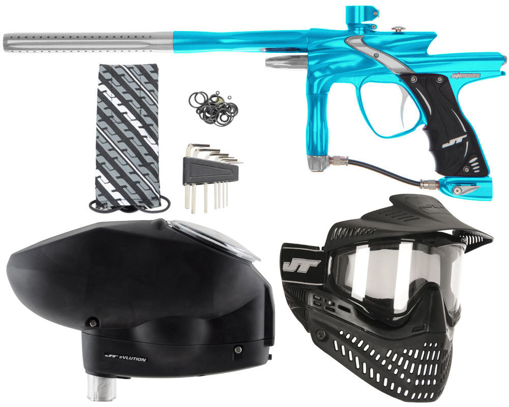 JT Impulse Paintball Gun w/ Free JT Proflex Mask & Evlution Loader - Teal/Grey
