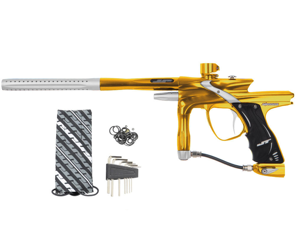 JT Impulse Paintball Gun - Gold/Dust Silver