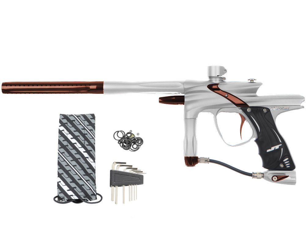 JT Impulse Paintball Gun - Dust Silver/Brown