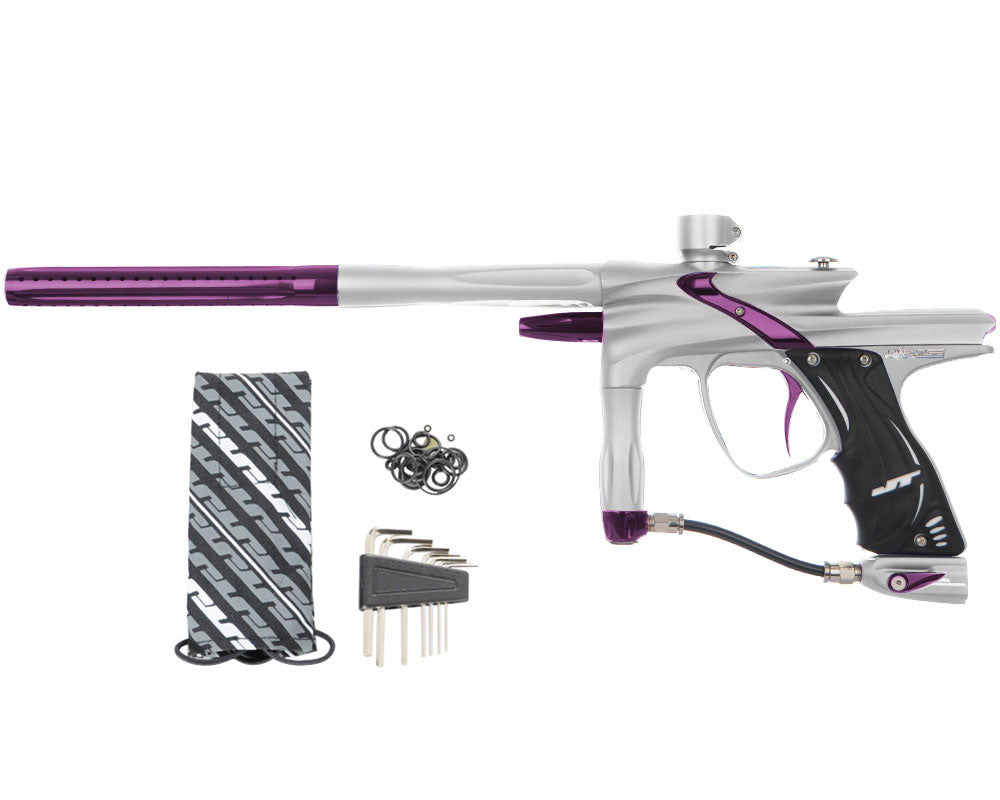 JT Impulse Paintball Gun - Dust Silver/Eggplant