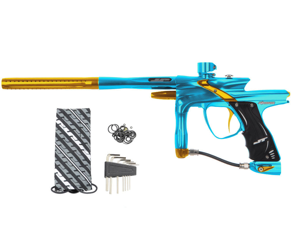 JT Impulse Paintball Gun - Teal/Gold