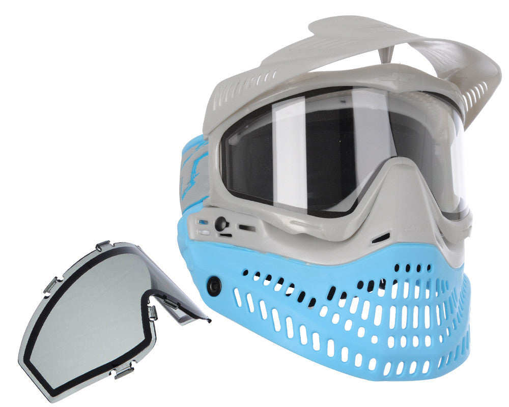 Jt ProFlex Thermal Paintball Mask - 2.0 Limited Edition Blue/Silver w/ Silver Visor