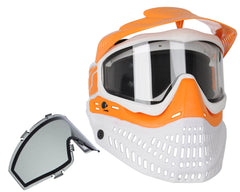 Jt ProFlex Thermal Paintball Mask - 2.0 Limited Edition Orange/White w/ Orange Visor