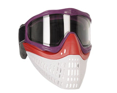 JT ProFlex Thermal Paintball Mask w/ Clear Lens - Purple w/ Red/White Bottoms