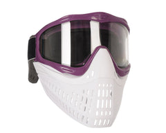 JT ProFlex Thermal Paintball Mask w/ Clear Lens - Purple w/ White/White Bottoms