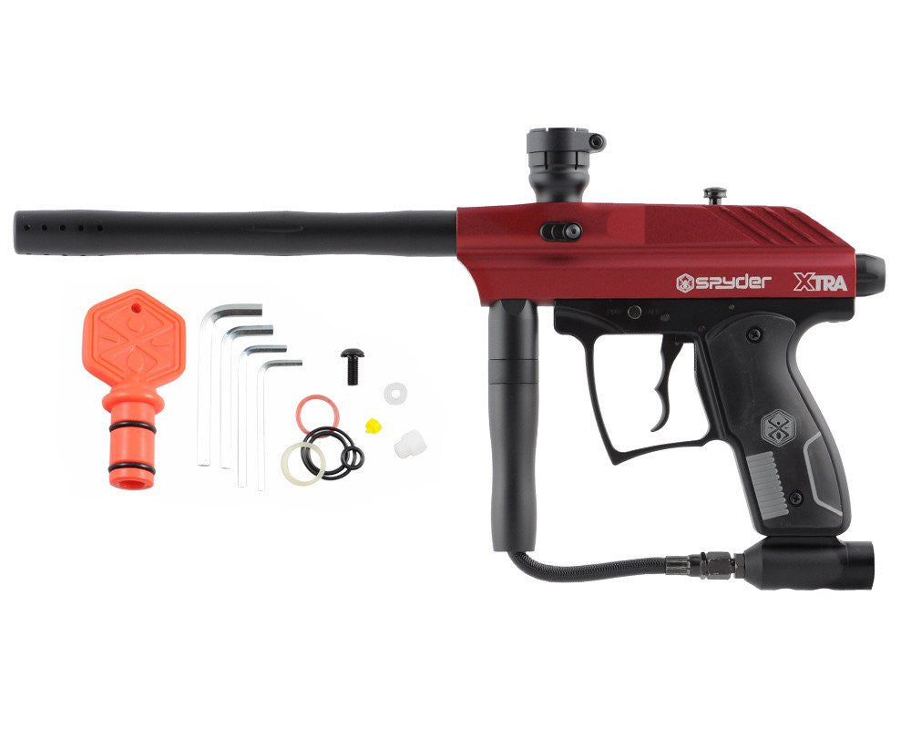 2012 Kingman Spyder Xtra Semi-Auto Paintball Gun - Hot Red