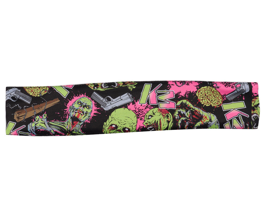 KM Paintball Headband - Zombie Pink/Lime