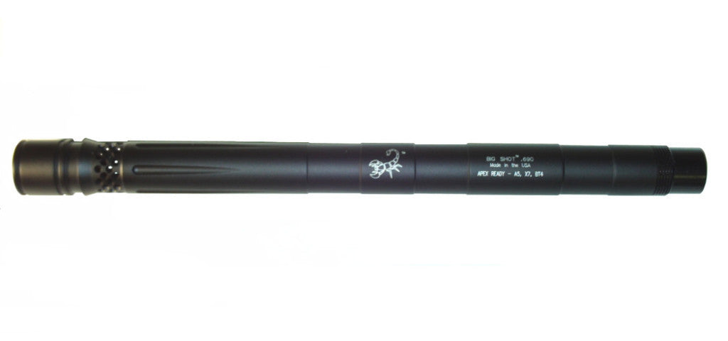 "Lapco Tippmann 98 Big Shot Apex Ready Barrel - 12"" - .684 - Dust Black"