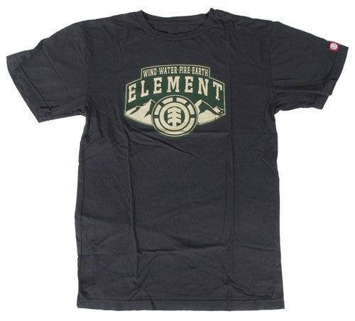 Element Ridges T-Shirt - Black - Mens T-Shirt