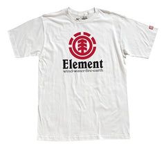 Element Vertical T-Shirt - White - Mens T-Shirt