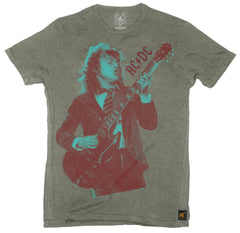AC/DC - Angus - Grey - Mens T-Shirt