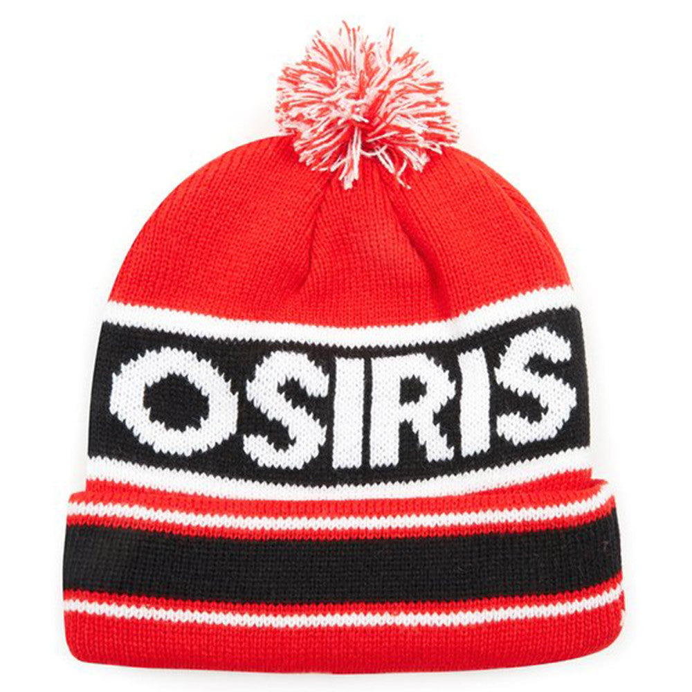 Osiris Pom Pom - Black/red - Men's Beanie