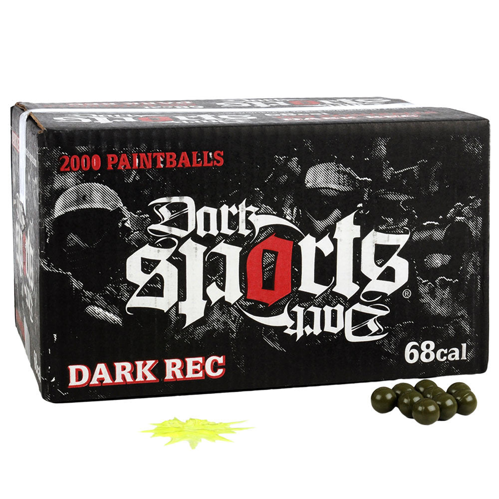 Dark Sports Rec Paintballs Case 2000 Rounds - Yellow Fill