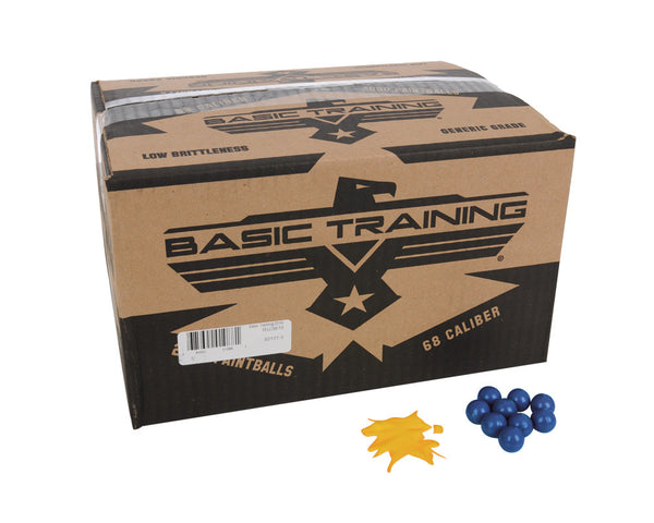 DXS Basic Training Paintballs Case 2000 Rounds - Orange Fill