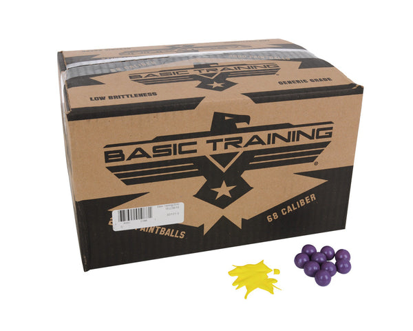DXS Basic Training Paintballs Case 2000 Rounds - Yellow Fill