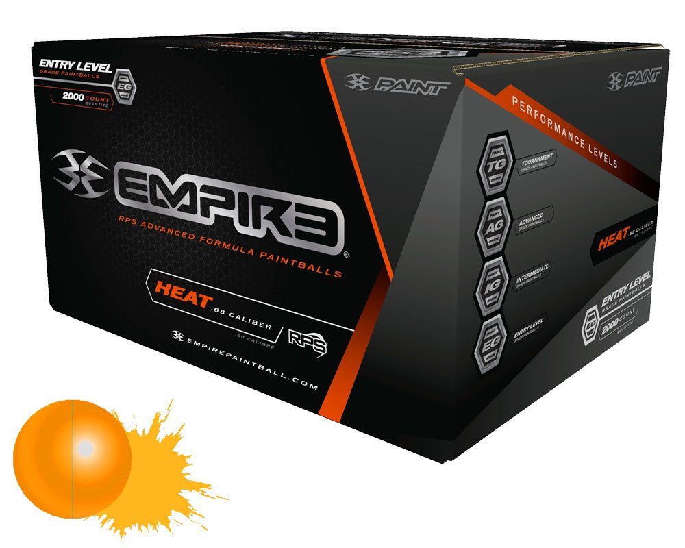 Empire Heat Paintballs Case 2000 Rounds - Orange Fill