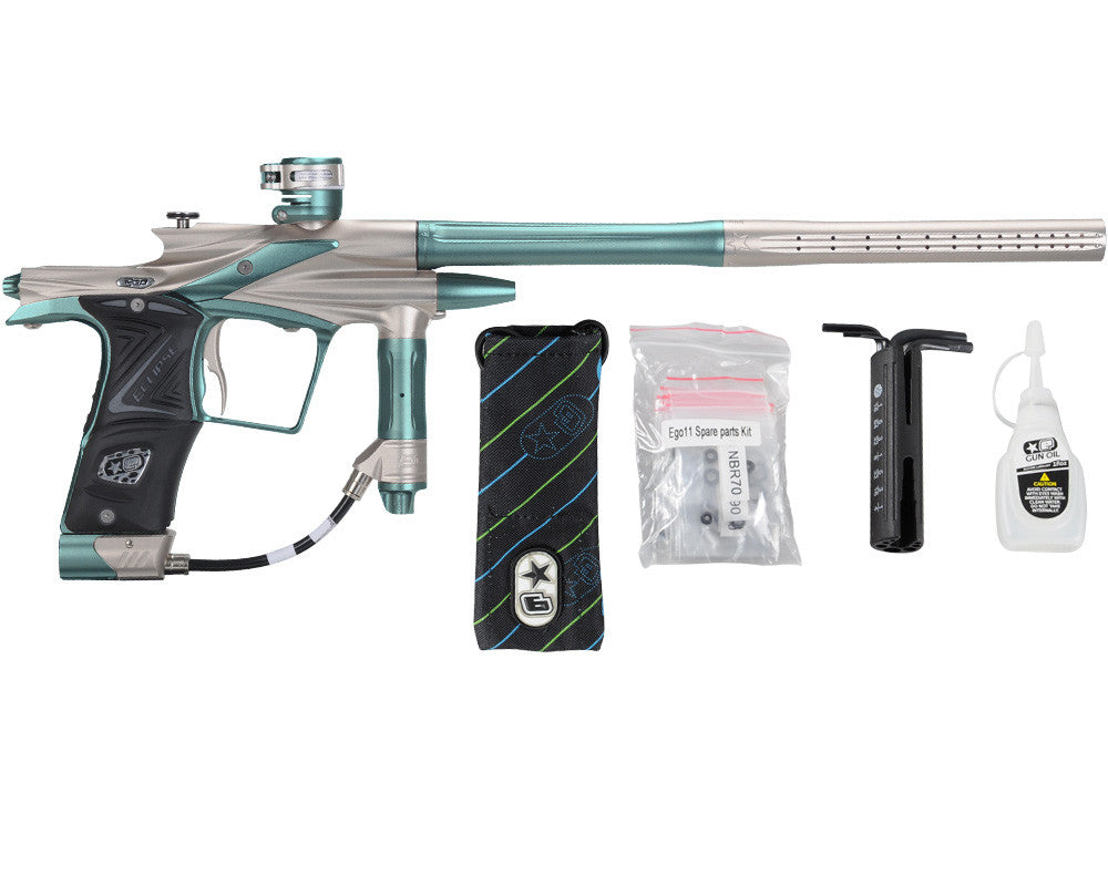 Planet Eclipse 2011 Ego Paintball Gun - Pewter/Aqua