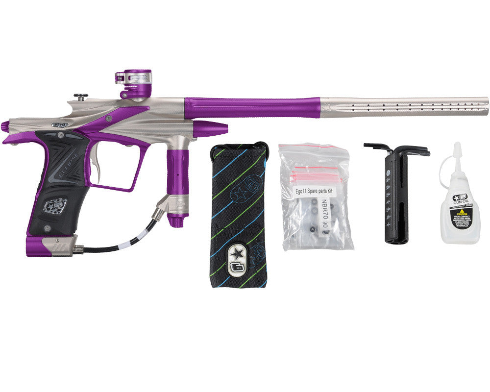 Planet Eclipse 2011 Ego Paintball Gun - Pewter/Electric Purple