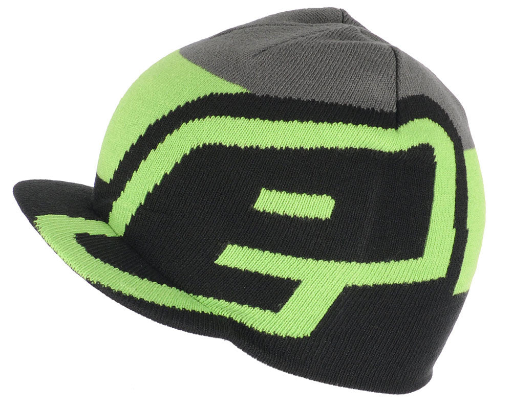 Planet Eclipse 2015 Staple Visor Beanie - Black/Green