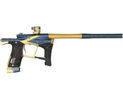 "Planet Eclipse Ego LV1 Paintball Gun - Dynasty ""Waffle"" Milled Edition - Dark Blue/Gold"