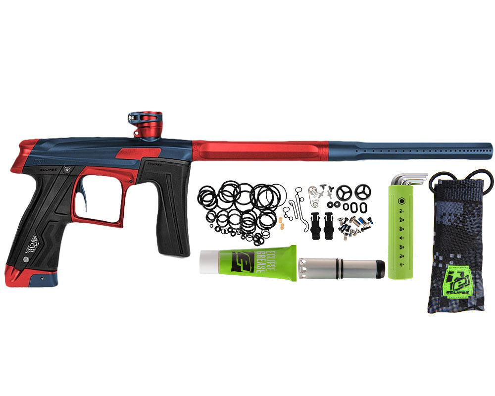 Planet Eclipse Geo CS1 Paintball Gun - Dark Blue/Red