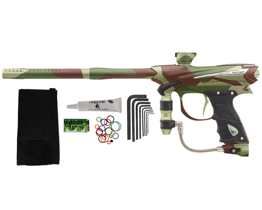 Proto Reflex Rail Paintball Gun - PGA Barracks Green