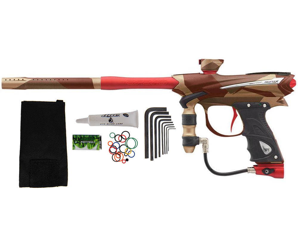 Proto Reflex Rail Paintball Gun - PGA Camo Red