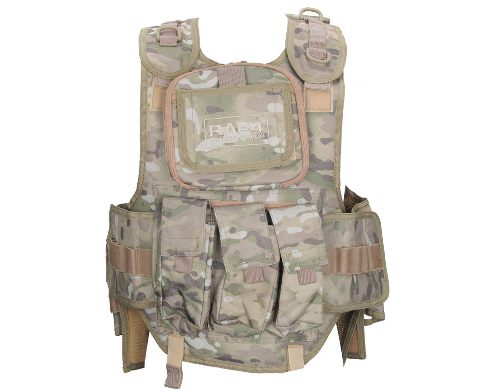 RAP4 Counterstrike Paintball Vest - 8 Color Desert