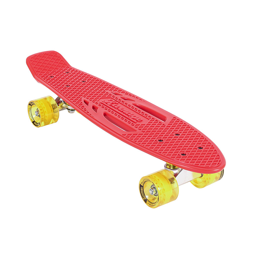 Karnage Retro Matte - Red/Yellow - Complete Skateboard